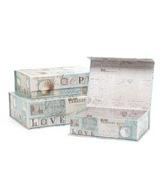 Look at this Beach Postcards Box Set on #zulily today!