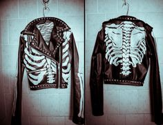 """I LOVE THIS JACKET. Someone find me a non-animal """"leather"""" jacket, and a really good artist!!! :)"""