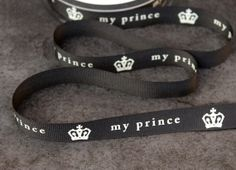 2 Yards of My Prince grosgrain ribbon 15mm wide by scratchycat, $1.80