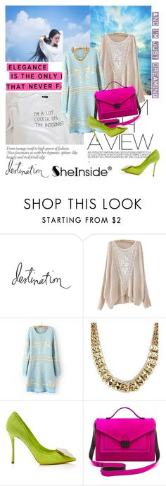 """""""above the clouds!Sheinside 1!"""" by yerina ❤ liked on Polyvore featuring Heidi Swapp, Nicholas Kirkwood and Loeffler Randall"""