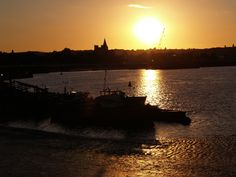 Medway river at sunset looking from Chatham towards Rochester [shared]