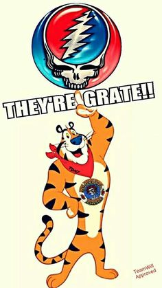 Grateful Dead Steal Your Face, Tony The Tiger Poster Grateful Dead Songs, Grateful Dead Image, Grateful Dead Poster, Dead Images, Dead Pictures, Miss Your Face, Psychedelic Rock, Forever Grateful, Good Ole