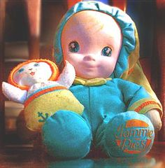 This seriously was one of my favorite dolls growing up!!  She was so ratty and worn, but well loved.