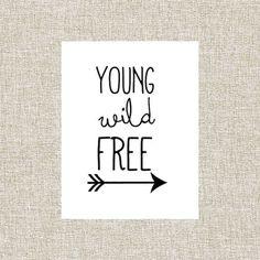 wall art printables   Printable Wall Art, Wall Decor, Nursery Decor, Printable Quote, Young ...