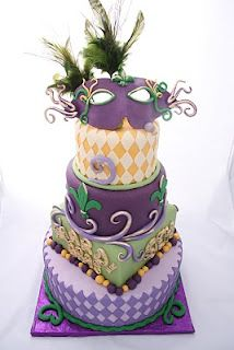 Mardi Grass totally awesome cake.