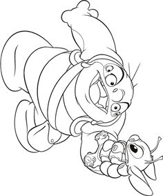 lilo and stitch colouring pages 2