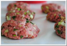 Making burgers with beef and vegetables from scratch