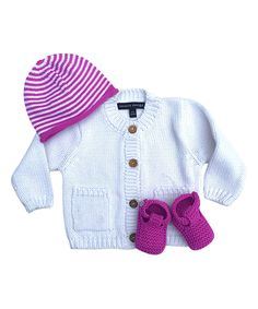 Take a look at this White & Plum Sweater Set - Infant today!