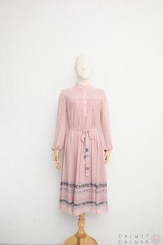 a042191353a Vintage 70s Dress Japanese Vintage Dress Sheer Chiffon