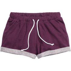Sweatshirt shorts $14.99 (€13) ❤ liked on Polyvore featuring shorts, bottoms, pajamas, pants, mini shorts, hot shorts, hot pants, short shorts and hot short shorts