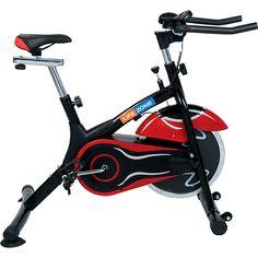 BicicletaSpinning  LifeZone com Roda de Inércia 10kg e Painel Digital  Preta e Vermelha - e625b23adaeed