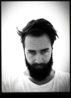 beard, black & white,