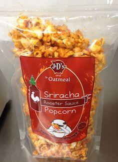 Sriracha Popcorn - yum!