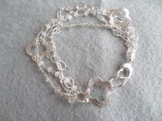 Moonstone and Chain Bracelet Moonstone by ThenThereWereThree