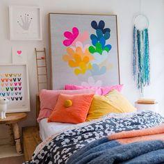Rachel Castle's new winter artworks and bed linen.