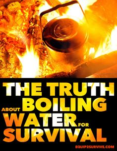 How long do you really have to boil water in a survival situation to make it safe to drink? Is boiling even ENOUGH to make certain that your water is safe to drink? Find out the DEFINITIVE truth here! Survival Food, Outdoor Survival, Survival Tips, Survival Skills, Survival Supplies, Camping Survival, Emergency Preparedness, Safe Drinking Water, Mother Earth News