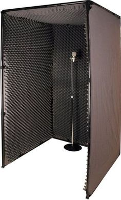 Shop 42 x 42 x Inch Sound & Voice Over Booth. Search all Unique Product Solutions in Sound Booths & Vocal Booths. Music Studio Decor, Home Recording Studio Setup, Recording Booth, Home Studio Setup, Studio Desk, Garage Studio, Home Studio Music, Diy Vocal Booth, Home Music Rooms
