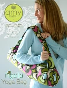 love the idea of this yoga bag, I even have this fabric in my stash!