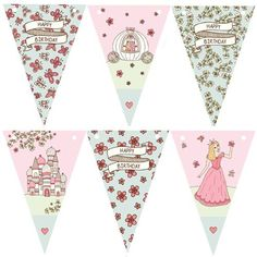 Gorgeous Fairytale Princess Bunting perfect for a Princess Birthday Party.