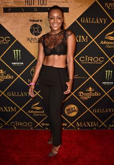 Model Brittany Hampton attends the Maxim Hot 100 Party at the Hollywood Palladium on July 30, 2016 in Los Angeles, California.