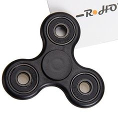 R Horse Fidget Spinner Toy Stress Reducer - Perfect For ADD ADHD Anxiety and Autism Adult ChildrenGuarantee 2 min Spin Time!(topnew-black)