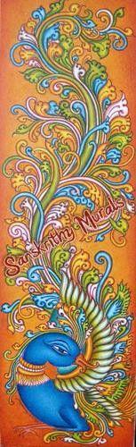 Indian Mural Art Designs : 1000+ images about kerala mural on Pinterest  Kerala, Murals and Raja ...