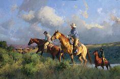 "Bill Anton Artist | Making Tracks Oil on linen, 30"" x 45"" Price: $30,000"