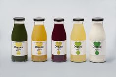 Packaging design for Barcelona based cold pressed juice company Mother by Mucho