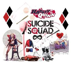 """Harley Quinn"" by amberalew101 ❤ liked on Polyvore featuring Villain and Elisabeth Weinstock"