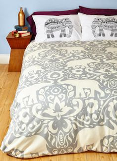 Love this bedding - unique elephants