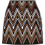 DKNY - Embroidered Cotton-blend Mini Skirt