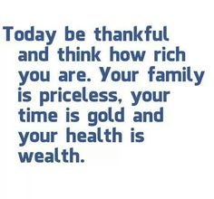 Be thankful every day