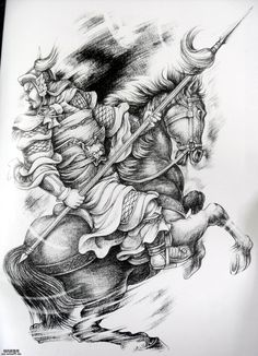 Dragon Tattoo Sketch, Tattoo Sketches, Horse Tattoo Design, Tattoo Designs, Japan Tattoo, Samurai Tattoo, People Art, Pencil Drawings, Sleeve Tattoos