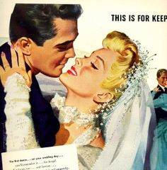 vintage pinup  wedding day 1946 advertisement by FrenchFrouFrou, $14.95