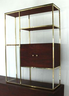 Modern Etagere And Credenza In The Manner Of Paul McCobb