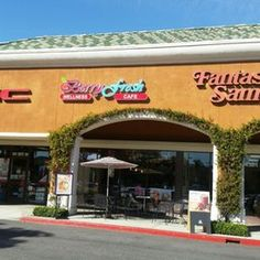 Photo of Berry Fresh Wellness Cafe - La Habra, CA, United States. Sunnny day seating, front view