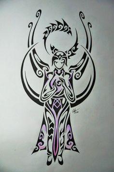 Tribal design of Karma (league of legends)