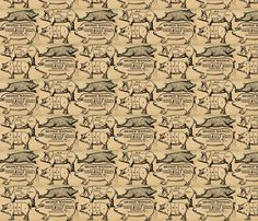 The Other White Meat fabric by marchhare on Spoonflower - custom fabric & wallpaper