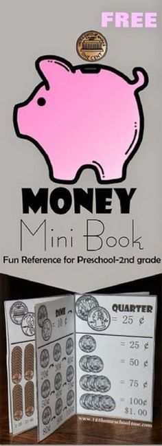 `FREE Money Mini Book - a free printable money for kids to help teaching kids in Preschool, Kindergarten, grade, and grade learn about money. This money for kids printable will help learning about money for kids. Money Activities with Kids Math Classroom, Kindergarten Math, Teaching Math, Help Teaching, Kindergarten Social Studies, Bilingual Classroom, Preschool Writing, Teaching Tools, Learning Money