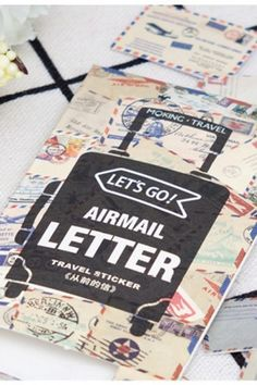 Retro Style Planner Decorative Sticker Flake Sack - Air Mail Letter