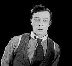 Buster Keaton in Sherlock, Jr (1924)  Another delightful gif frommaudit