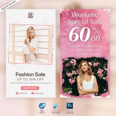 Fashion instagram stories ads banners Premium Psd Free Banner, Friendship Day Quotes, Web Banner Design, Thinking Quotes, Facebook Timeline Covers, Social Media Banner, Free Summer, Fashion Sale, Ad Design