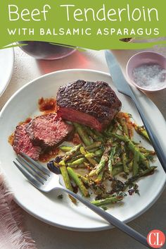 Beef tenderloin steaks are often considered a special-occasion cut, but when they go on sale (or you're ready for a splurge), this classic preparation is foolproof and perfect for weeknights. Balsamic glaze has been reduced until syrupy.   Cooking Light