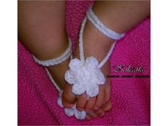 Items similar to baby crochet barefoot sandals photography prop-more colors READY TO SHIP on Etsy