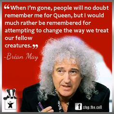 That's Dr Brian May for you, darlings.