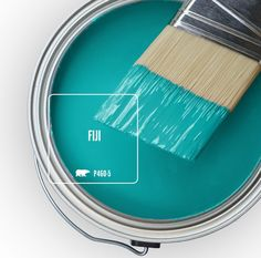 Colorfully, BEHR :: Color of the Month: Fiji! Love the name, love the color! Wall Colors, House Colors, Colours, Interior Paint Colors, Paint Colors For Home, Turquoise Painting, Turquoise Paint Colors, Ocean Blue Paint Colors, Beachy Paint Colors