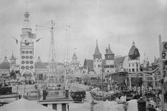 Coney Island Luna Park 1900s Scene 4x6 Reprint Of Old Photo