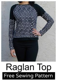 Long Sleeve Raglan Top for Women: Free Pattern and Tutorial