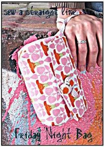 Sabra from Sew a Straight Line shares a free pattern and tutorial for making a Friday Night Bag . It's pretty little wristlet with just enough space for your going-out essentials (driver&#82…