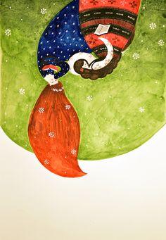 #besties (watercolor illustration)
